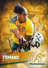✺Signed✺ 2016 WALLABIES Rugby Union Card JOE TOMANE
