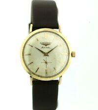 Vintage Longines Admiral 10k G.F. 1200 33mm Leather Swiss Automatic Wrist Watch