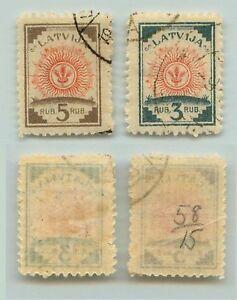 Latvia, 1919, SC 57-58, used, laid paper. rt5169