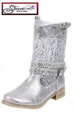 Textured Block Low Heel (0.5-1.5 in.) Boots for Women
