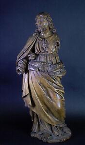 sehr alte, ausdrucksstarke Heiligenfigur - Jesus - Restaurierungsobjekt - H65cm