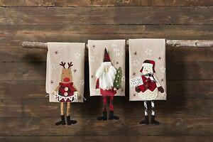 Mud Pie H1 Christmas Lodge Dangle Leg Towel 21x14'' 41500228 Choose Design