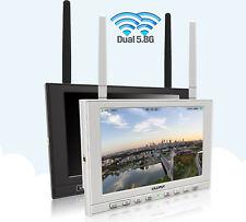"""7"""" FPV Monitor 5.8ghz Antenna doppia per droni Lilliput 339/dw Ingresso HDMI"""