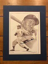 """Duke Snider Signed Limited Edition Jerry Hersh Lithograph rare /750 11x14"""""""