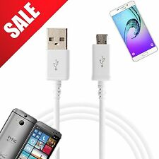 1x MICRO USB CABLE FOR SAMSUNG HTC PHONE AND TABLET 1METER - WHITE COLOUR - UK