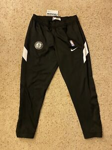 NEW XL Nike NBA Issued Brooklyn Nets Therma Flex AV0833-010 Tearaway Black Pants