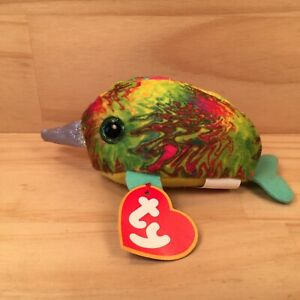 "NORI THE NARWHAL ""Green"" Gorgeous Miniature Sea Animal Soft Toy Stuffed Friend"