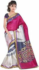 BEAUTIFUL DESIGNER ART BHAGALPURI SILK SAREE