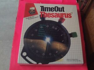 TIMEOUT THESAURUS  Apple IIe   Computer Software Sealed Vintage  FOR APPLE WORKS