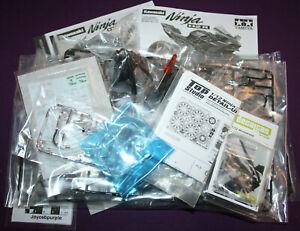 Tamiya Kawasaki Ninja H2R 1:12 scale model bike kit, Detail-Up Set & windshield.