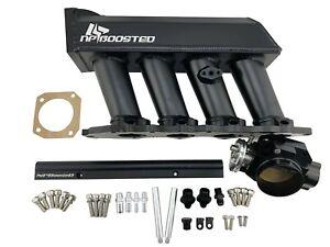 Intake Manifold 70mm Throttle Body Fuel Rail FOR B16 B17 B18 B20 VTEC GSR SiR Si