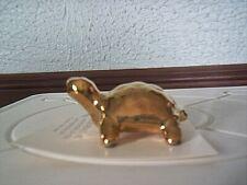 "Hagen Renaker Limited Edition Sr Feng Shui Golden Coin Turtle 3/4"" Tall"
