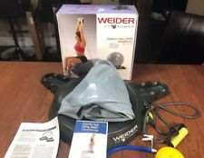 Weider Fit Elements Stability Balance Ball Stand Training Kit DVD