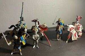 Schleich Germany Lot of 10 Pieces Knight & Horse 2003 Animal Rare Plastic Toy