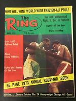 VTG THE RING MAGAZINE MUHAMMAD ALI CASSIUS CLAY BOXING MARCH 1973