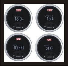 52mm Digital LCD OBDII OBD2 SPEEDO METER+RPM+WATER TEMP+VOLTS Gauge WHITE LED