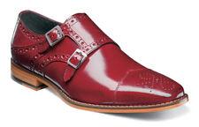b8ef72f1 Stacy Adams Tayton Men's Red Double Monk Strap Cap Toe Dress Shoes 25194-600