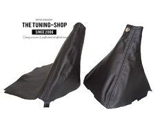 For Subaru Impreza WRX 07-12 Gear & Handbrake Gaiter Black Leather