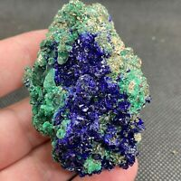 82g Natural azurite/malachite crystal ore mineral 755
