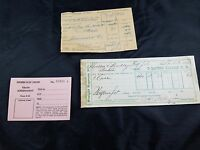 3 LOT COLLECTIBLE RAILROAD PAPERWORK - TRAIN ASSIGNMENT,(2)FREIGHT RECEIPT(1881)