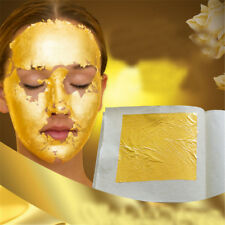 5Pcs 24K Pure Gold Edible Real Gold Leaf Sheet Gilding Craft Mask SPA 4.33cm