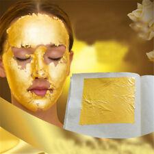 5Pcs 24K Pure Gold Edible Real Gold Leaf Sheet Gilding Craft Mask SPA _Sp