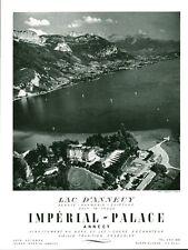 Publicité Ancienne  Tourisme Suisse Lac d'Annecy  Advertising 1953