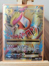 M Mega Pidgeot Ex Evolutions 105/108 Full Art * New * Pokemon Card
