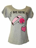 NEW LADIES Ex STORE WHISTLING T-SHIRT TOP Let Me Hear You..WHISTLE SZ 8 -22 SALE