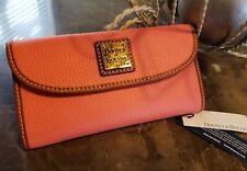 Dooney /& Bourke Tangerine Orange Leather Dillen Continental Wallet New NWT $128