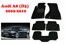 Audi A8 D3 2002-2010 Fully Tailored Custom Fit Floor Mats Luxury Line Bespoke
