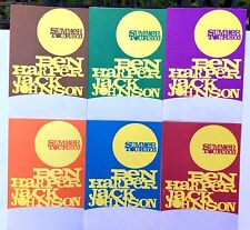 Ben Harper / Jack Johnson Summer Tour 2003 Fabric Decal VIP Pass Set Of 6.