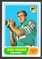 6~~BOB GRIESE FOOTBALL CARDS~~INCLUDES HIS ~ROOKIE~ REPRINT CARD!!