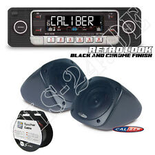 Retro Design USB CD RCD110B Radio BLACK+ Caliber Aufbau Lautsprecher + 10m Kabel