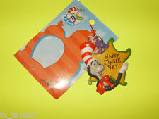 """Dr. Seuss CAT IN THE HAT """"Happy Jingle Day"""" Holiday Ornament MOC from 1998"""
