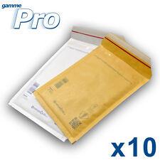 Lot de 10 enveloppes bulles PRO - 10 formats au choix - blanches ou marron