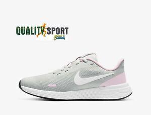 Nike Revolution 5 Grigio Rosa Scarpe Shoes Donna Sportive Running BQ5671 021