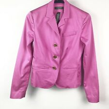 Ralph Lauren Women Blazer Career Jacket 2P Pink