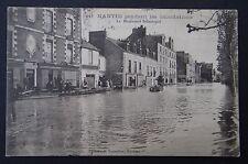 CPA Carte postale NANTES Inondations 1904 Boulevard Sébastopol GICQUEL Horloger