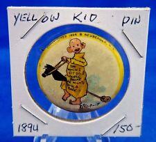 "1894 High Admiral Cigarettes Yellow Kid #21 Advertisin Pin Pinback Button 1 1/4"""