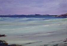 Original Acrylic Painting A Beach on The Isle of Harris Scotland