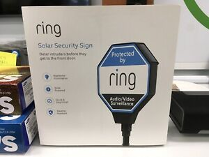 Ring Solar Security Sign, Lights Up at Night Weather Resistant