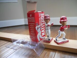 Set Of (2) Bobbleheads: WASHINGTON NATIONALS Baseball Players **FREE SHIPPING**