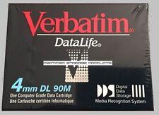 NEW Verbatim Datalife 88195 4mm DL 90m 2GB/4GB Dat Tape Cartridge DAT DDS-1