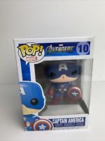 Funko Pop! Marvel Avengers #10 Captain America Vaulted Bobble-Head W/Protector