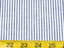 "BTY BLUE AND WHITE  SEERSUCKER ALL COTTON FABRIC 46"" EESCO COLOR 901"
