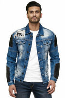 CIPO & BAXX HARLEY MENS JEANS JACKET BIKER DENIM ALL SIZES