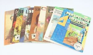 Walter Foster Lot of 10 Vintage Art Instruction Books How to Draw Paint Manual