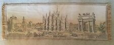 Vintage BELGIAN TAPESTRY Wall Hanging RUNNER French Arc de Triomphe Cathedral