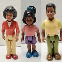 Vintage LITTLE TIKES Family Doll House BLACK MOM DAD SISTER African American VTG